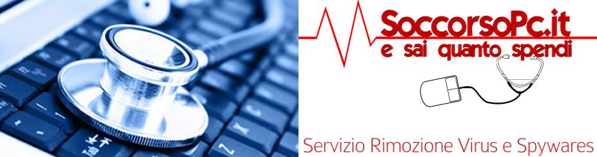 Servizio rimozione virus e spywares Roma